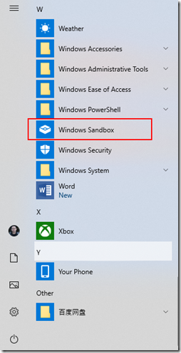 start-windowssandbox