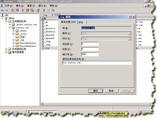LCS2005配置DNS